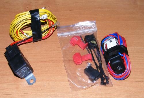 Монтажный набор подключения ПТФ Лада Калина (полный).  Комплект проводки с разъемами для подключения ПТФ к.